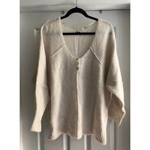 Free people shell button sweater